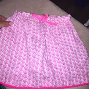 VINEYARD VINE 🐳 Pom pink shell skirt
